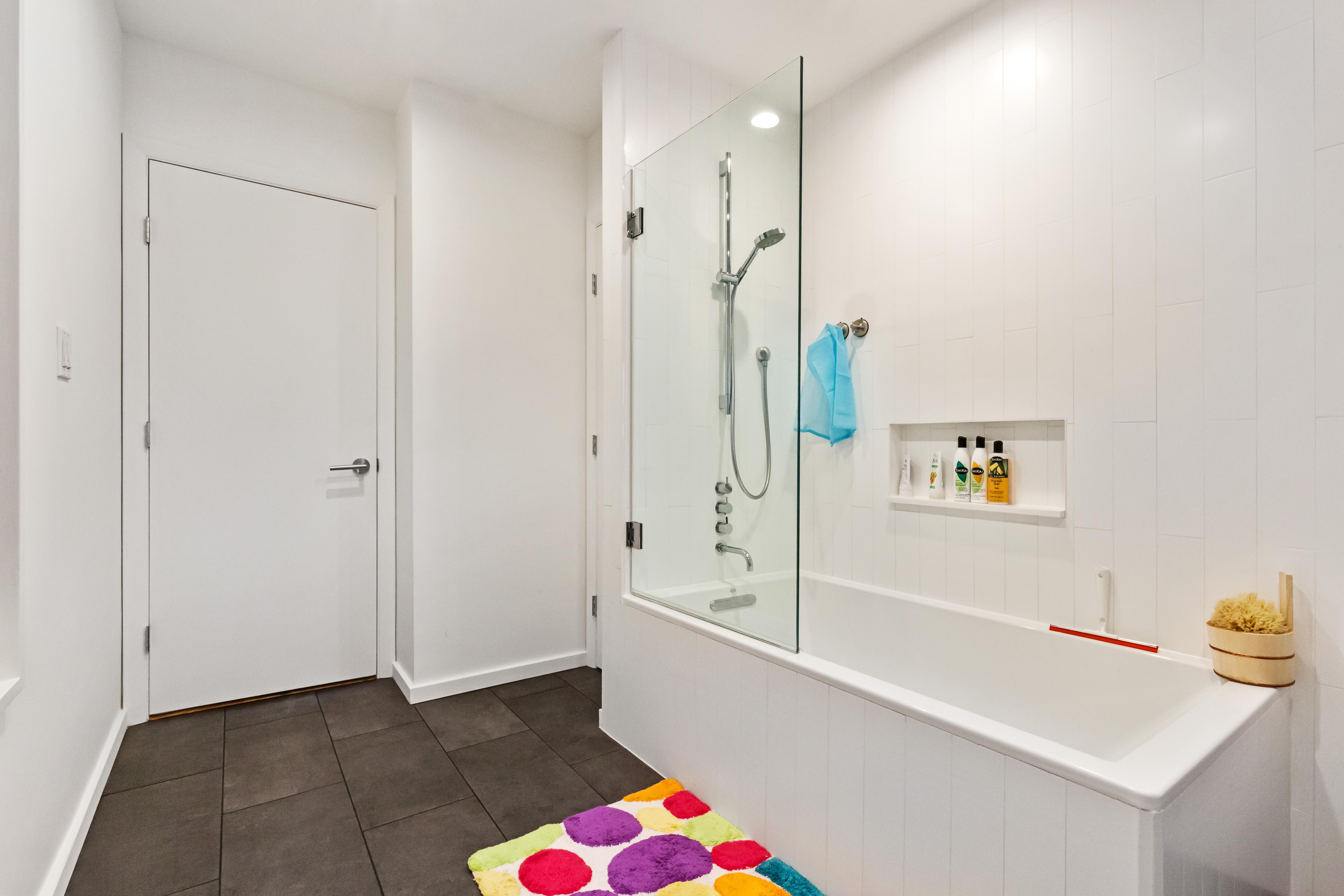 custom marble bathroom, south salem, ny